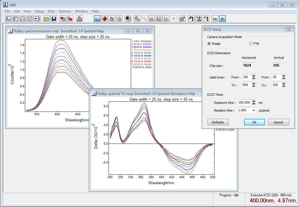 transient absorption curve fitting software
