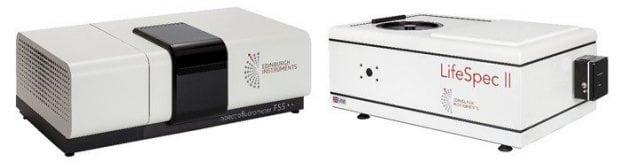 Left: FS5 Spectrofluorometer; Right: Fluorescence Lifetime Spectrometer