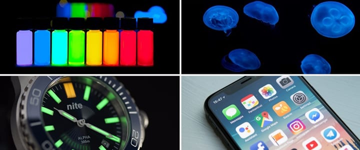 Fluorescence phosphorescence examples