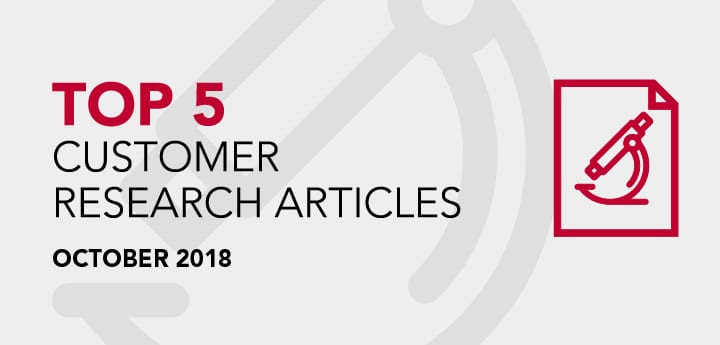 Top 5 Customer Research Articles - October 2018