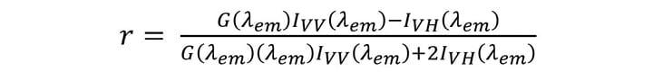 Fluorescence Anisotropy Equation