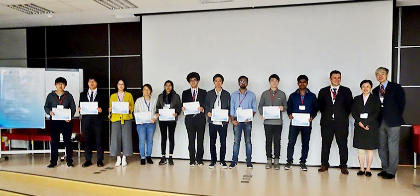 Students receive their awards from Edinburgh Instruments