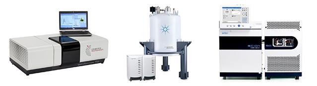 optical spectrometer, NMR spectrometer and mass spectrometer