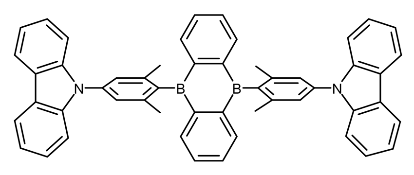 TADF OLED: Chemical structure of the CzDBA TADF emitter