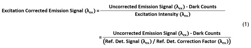Excitation Corrected Emission Signal
