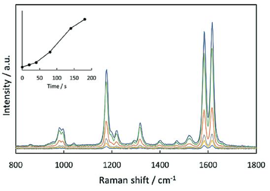Raman spectrum of 1,2(4-pyridyl)ethylene 40 nm Au