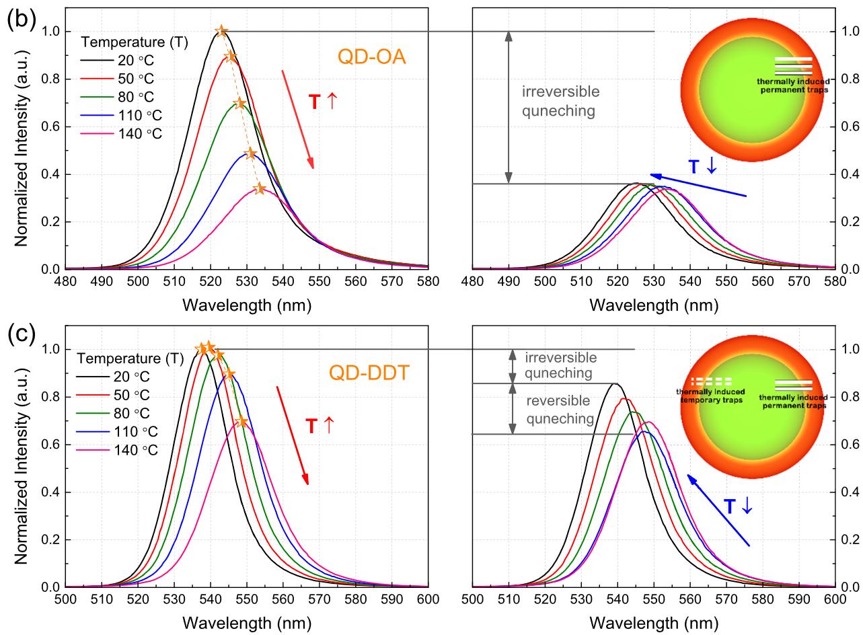 Quantum dot photoluminescence spectra | QLED