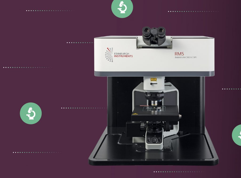 RM5 Raman Microscope. The RM5 is a compact and fully automated Raman Microscope for analytical and research purposes.