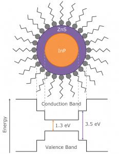 Indium phosphide quantum dot structure