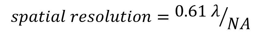 Spatial resolution equation