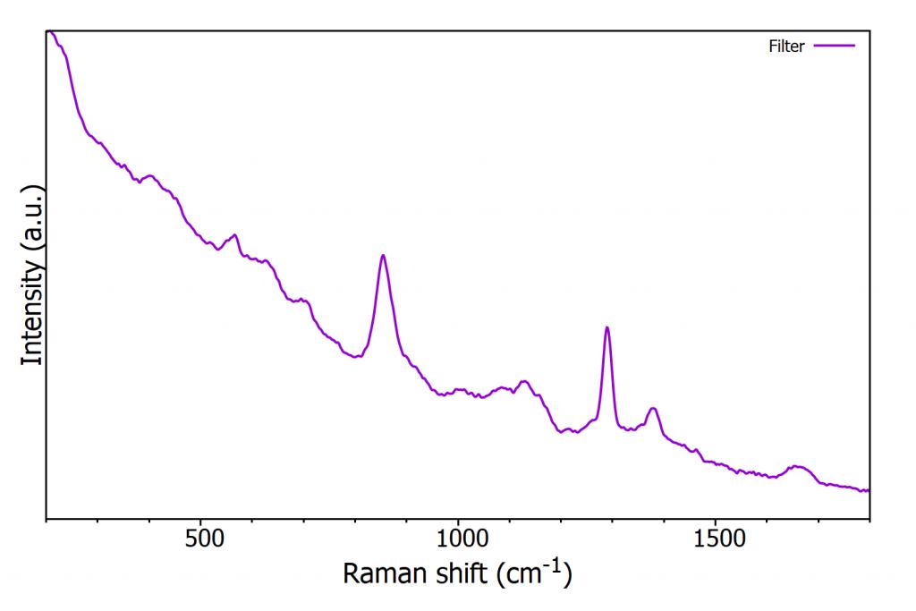 Raman spectrum of nitrocellulose filter