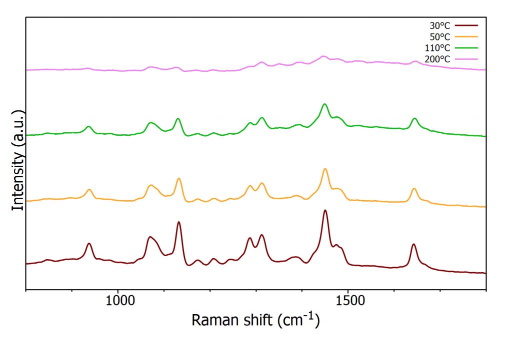 Polymer Phase Transition: Raman spectra of nylon-6 at increasing temperatures
