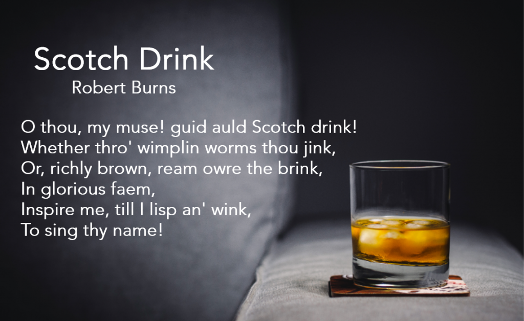 Robert Burns Poem for Whisky - Methanol Poisoning